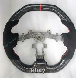 100% Real Carbon Fiber Alcantara/ Leather Car Steering Wheel For Nissan GTR R35
