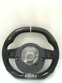 100% Real Carbon Fiber Car Steering Wheel For Audi TT R8 (Without Buttons Trim)
