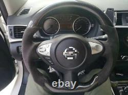 100% Real Carbon Fiber Steering Wheel For Infiniti FX35 FX37 QX70 Nissan 370Z