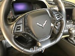2014-2018 Corvette C7 Carbon Fiber Steering Wheel Bezel
