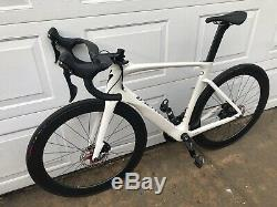 2018 Specialized Venge ViAS Disc Size 56 cm White Fact 11r 55mm Carbon Wheels