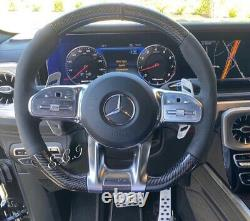 2019 2020 Mercedes Amg G63 C63 E63 Gt S63 Cls63 Gle Carbon Fiber Steering Wheel