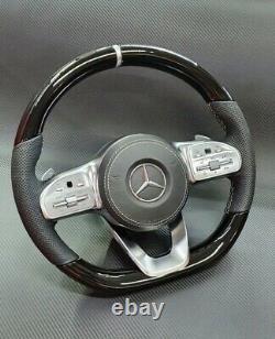 2020 Mercedes Benz Fiber Carbon, Piano Black Wood Steering Wheel