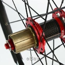 26/27.5/29 MTB Wheels Carbon Fibre Hub Bearings Mountain Bike Wheelset 25mm Rim
