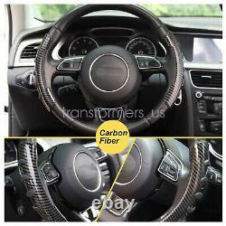 2x Carbon Fiber Non-Slip Steering Wheel Booster Cover For Honda Civic Accord CRV