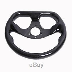300MM Bolts Racing Steering Wheel Carbon Fiber Semicircle Tet Plane Type 6 Holes