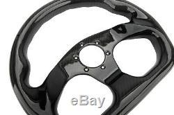 320MM 13 Bolts Racing Steering Wheel Carbon Fiber Gloss Semicircle Jet 6 Holes