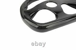 320MM Carbon Fiber Racing Steering Wheel FLAT Gloss Semicircle FLAT BOTTOM