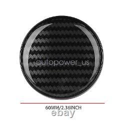 4Pcs Universal Car Carbon Fiber Look Auto Car Wheel Hub Center Caps Cover 60MM