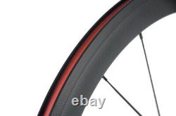 50mm Clincher Carbon Wheels Bicycle Track Bike Wheels Fixed Gear Carbon Wheelset