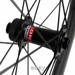 50mm Disc Brake Road Bike Carbon Wheels 25mm U Shape Disc Brake Wheelset 700C