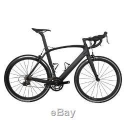 61cm AERO Carbon Frame Road Bike 700C Wheel Clincher Fork seatpost V brake 172.5