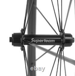 700C 50mm Carbon Wheels 25mm U Shape Clincher Carbon Wheelset Road Bike Race UD