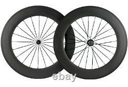 700C 88mm Carbon Fiber Wheels Road Bike Wheelset Front+Rear Wheelset UD Matte
