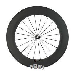 700C 88mm Full Carbon Wheelset Road Bike Clincher Bicycle Wheels Novatec 271 Hub