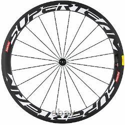 700C Bicycle Carbon Wheels 50mm Road Wheelset Carbon Fiber Wheel Powerway R13Hub