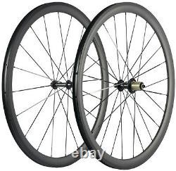 700C Carbon Fiber Wheels 38mm 23mm Clincher Road Bike Carbon Wheelset UD Matte