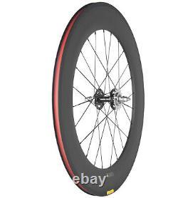 700C Front 70mm Rear 88mm Fixed Gear Carbon Wheels Track Bike Wheelset Clincher