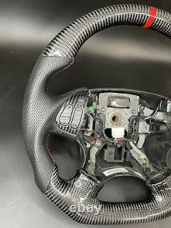 Acura TL 04 05 06 Black Carbon Fiber steering wheel Red stitching