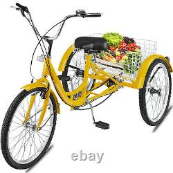 Adult Tricycle 20 7-Speed 3-Wheel Shimano Bike With Basket Installation Tools