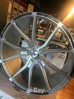 Asanti ABL 13 one set of staggered 22 brushed silver with carbon fiber inserts