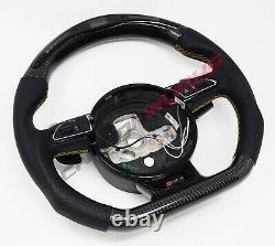 Audi RS4 RS6 RS7 SQ5 B8 C7 LED Carbon Fibre Steering Wheel Customisable Option