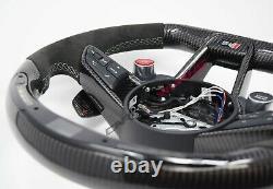 Audi TT TTRS 8S MK3 LED Carbon Fibre Steering Wheel Customisable Options 2014+