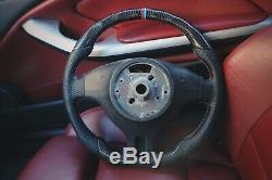 BMW E46 M3 style Carbon Fiber Perforated Leather steering wheel