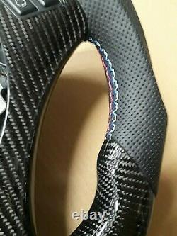 BMW E90 E92 E93 / M3 carbon fiber Steering Wheel / center trim NO PADDLE SHIFTER