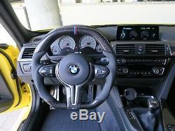 BMW F8x Carbon Fiber OEM Flat Bottom Flat Top Steering Wheel Custom Materials