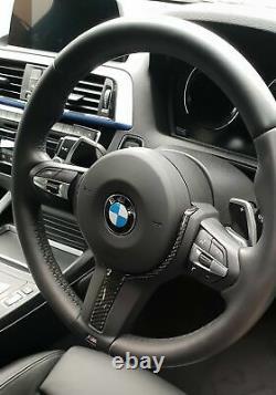 BMW M-Sport Carbon Fibre Steering Wheel Trim F20 F22 F30 F32 F36 F06 F13 X5