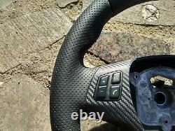 BMW M TECH 1/3/X E82/E87/E90/92/84 NEW NAPPA/PERF. LEATHER STEERING WHEEL carbon