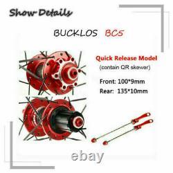 BUCKLOS MTB Bike Wheelset 26/ 27.5/29 inch Bicycle Front Rear Wheels Disc Brake