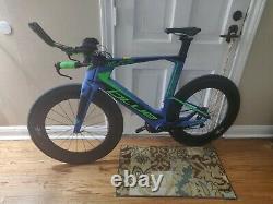 Blue Triad Elite LG 2x11 Ultegra Di2 Triathlon Bicycle Carbon Wheels Racing