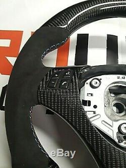 Bmw Carbon Fiber E82 E88 E90 E92 E93 & M3 Dash Interior Trim Steering Wheel