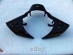 Bmw E60, E63, E64 M5, M6 Real Carbon Fiber Steering Wheel Trim, New Laminated