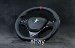 Bmw Steering Wheel X5M X6M E70 E71 x5 x6 Custom Flat bottom Individual Carbon