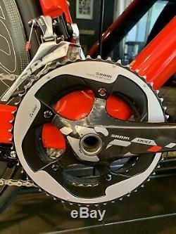 CLEAN! Hedrick Version 4 Sram Red 58cm Carbon Road Race Bike 58 Reynolds Wheels
