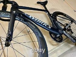 CLEAN! Specialized S-Works Venge Aero Duraace Di2 52cm With Carbon Wheels & POWER