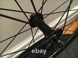 CORIMA WS1 47mm TRACK WHEEL SET 700C Racing Bike Pista Carbon Fibre Tubular 3K