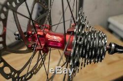 CUSTOM! Reynolds Assault Disc CARBON FIBER Wheelset / Wheels Gravel CX Road