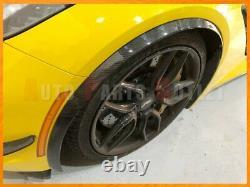 Carbon Fiber Front Fender Wheel Trim Flare For 14-19 Corvette C7 Z51 Stingary