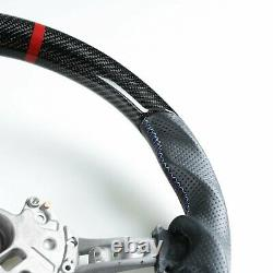 Carbon Fiber Leather Flat Bottom Steering Wheel For BMW F80 M3 F82 M4