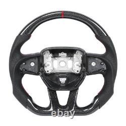 Carbon Fiber Leather Steering Wheel for Dodge Charger Challenger OHC Motors BT