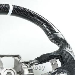Carbon Fiber Perforated Leather Steering Wheel For Ford Mustang 2015-2017