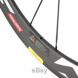 Carbon Fiber Road Bicycle 700c Wheelset Matte 50mm Clincher Carbon Wheels R13