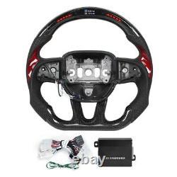 Carbon Fiber Steering Wheel LED for Dodge Challenger/Charger SRT HELLCAT 2015-20