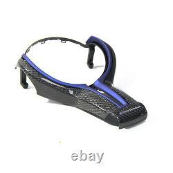 Carbon Fiber Steering Wheel Trim For BMW M2 F87 M3 F80 M4 F82 F12 X5M X6M Blue