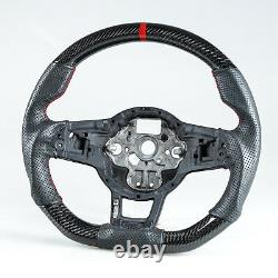 Carbon Leather Red Steering Wheel For VW Golf GTI Jetta Polo GTI Scirocco Tiguan
