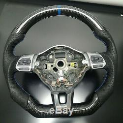 Carbon Steering Wheel For FIT VW Golf 6 GTI GTD R MK6 Jetta GLI Scirocco 2.0T